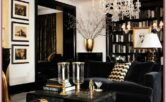 Modern Black And Gold Living Room Decor