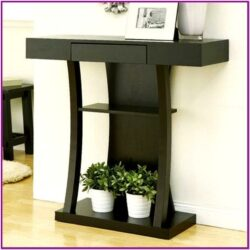 Modern Living Room Console Table Decor