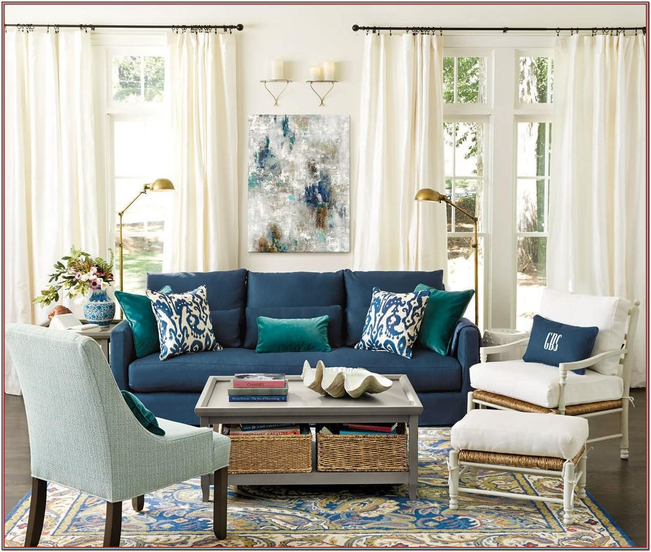 Navy Couch Living Room Decor