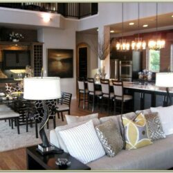 Open Concept Kitchen And Living Room Decorating Ideas