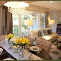 Open Living Room And Dining Room Decorating Ideas
