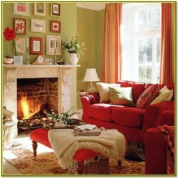Orange And Green Living Room Decor