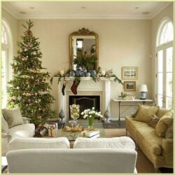 Photos Of Christmas Decorated Living Rooms