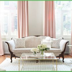 Rose Gold Champagne Gold Living Room Decor
