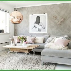 Rose Gold Living Room Decor