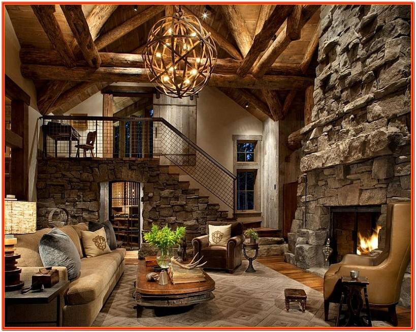 Rustic Cabin Living Room Decor