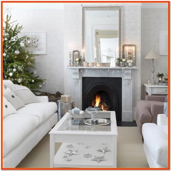 simple christmas decor living room