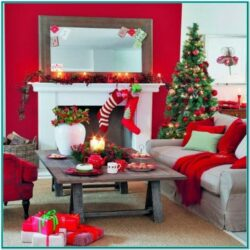 Simple Living Room Christmas Decor Ideas
