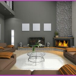 Small Living Room Corner Fireplace Decorating Ideas