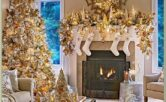 Traditional Images Of Christmas Decorated Living Rooms