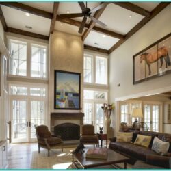 Vaulted Ceiling Living Room Decor Ideas