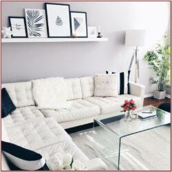 White Simple Living Room Decor Ideas