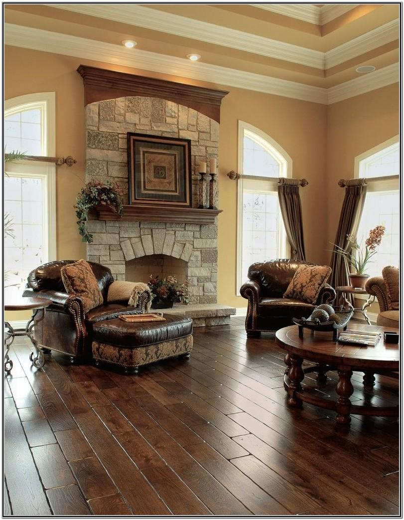Wood Floor Living Room Decor