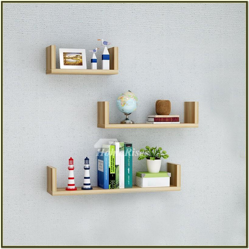 Wooden Wall Shelf For Living Room