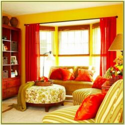 Yellow And Red Living Room Decor