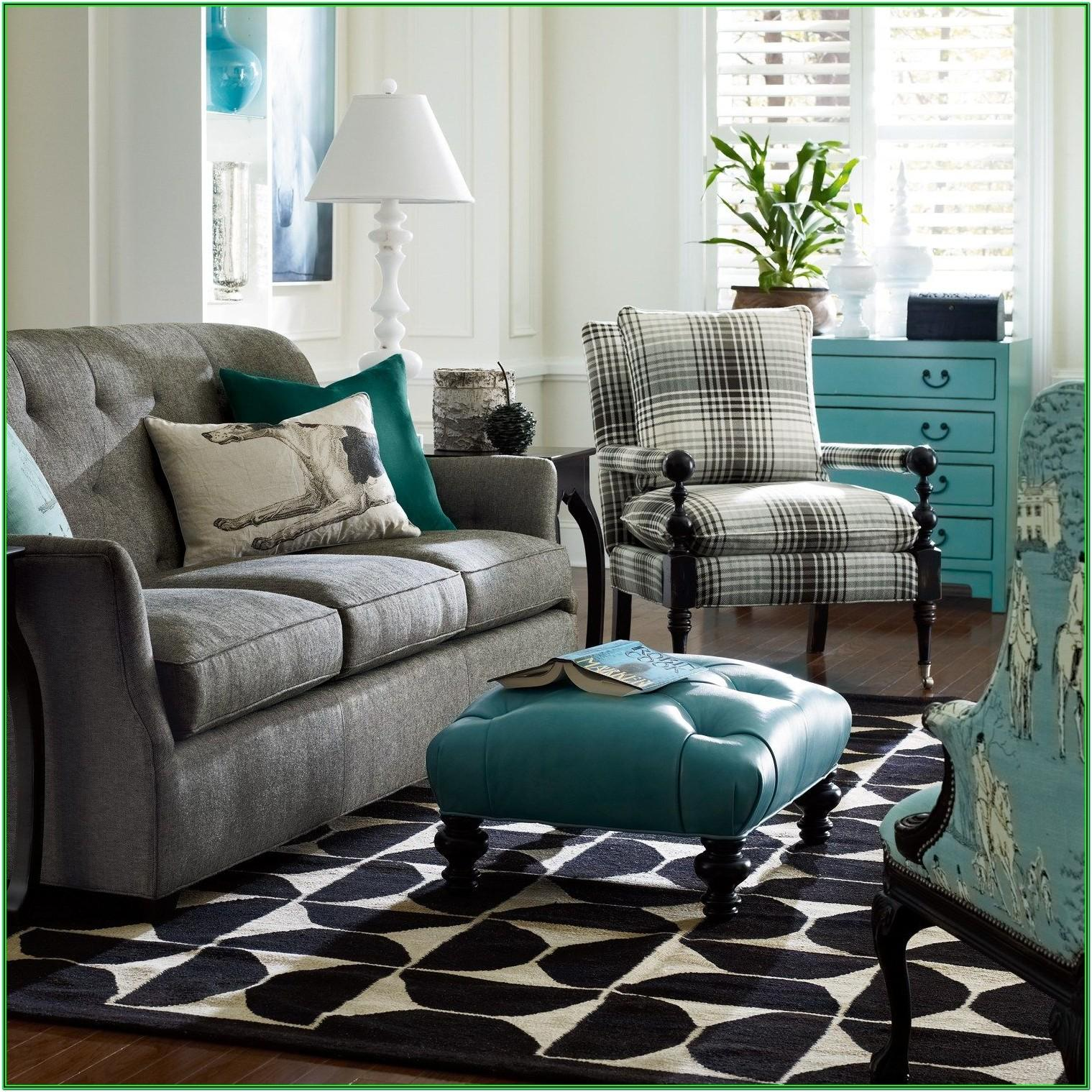 Accent Wall Teal And Grey Living Room Ideas