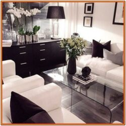 Black And White Living Room Furniture Decorating Ideas 1