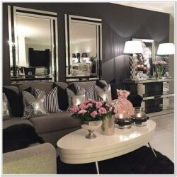 Black Gold Silver Living Room Ideas