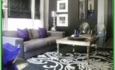 Black Purple And Grey Living Room Ideas