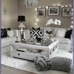 Black White And Silver Living Room Decor