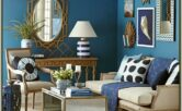 Blue And Gold Living Room Decor