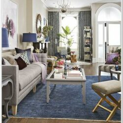 Blue Carpet Living Room Decorating Ideas 1