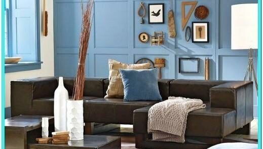 Blue Wall Decor For Living Room