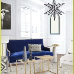 Blue White And Gold Living Room Ideas
