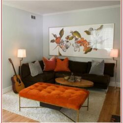 Brown And Orange Living Room Decor