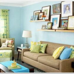 Brown Blue And Yellow Living Room Ideas