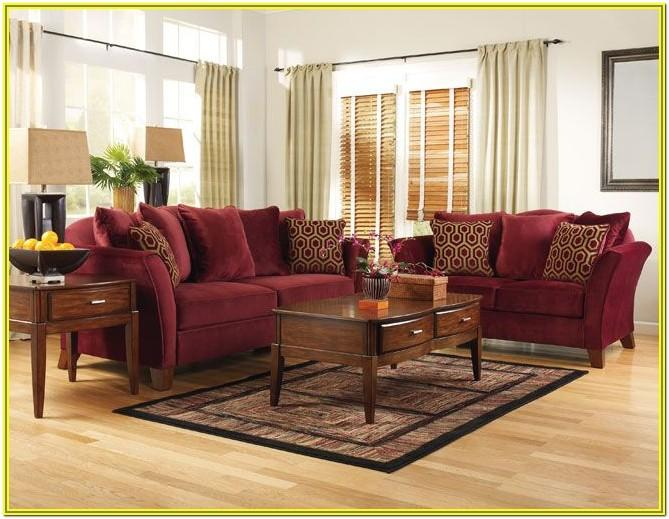 Burgundy And Black Living Room Ideas