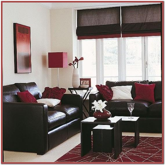 Burgundy Maroon Living Room Decor
