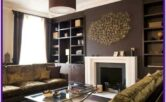 Chocolate Brown Modern Brown Living Room Decor