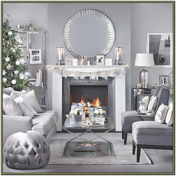 Christmas Living Room Decor Grey Couch