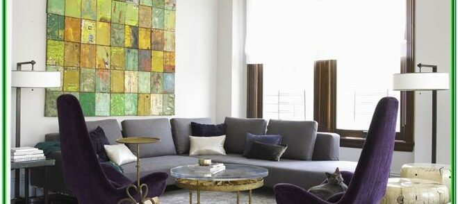 Contemporary Purple And Grey Living Room Ideas