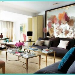 Contemporary Trendy Living Room Decor