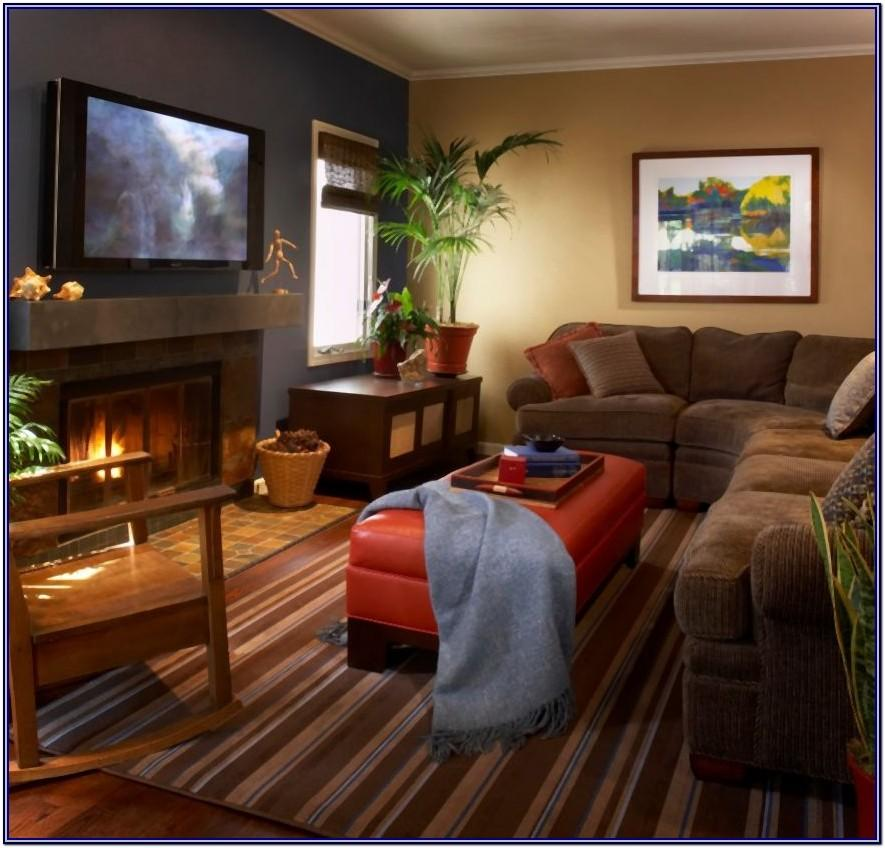 Contemporary Warm Living Room Decor