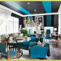 Dark Blue And Gold Living Room Ideas