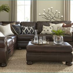 Dark Brown Brown Sofa Decorating Living Room Ideas Scaled