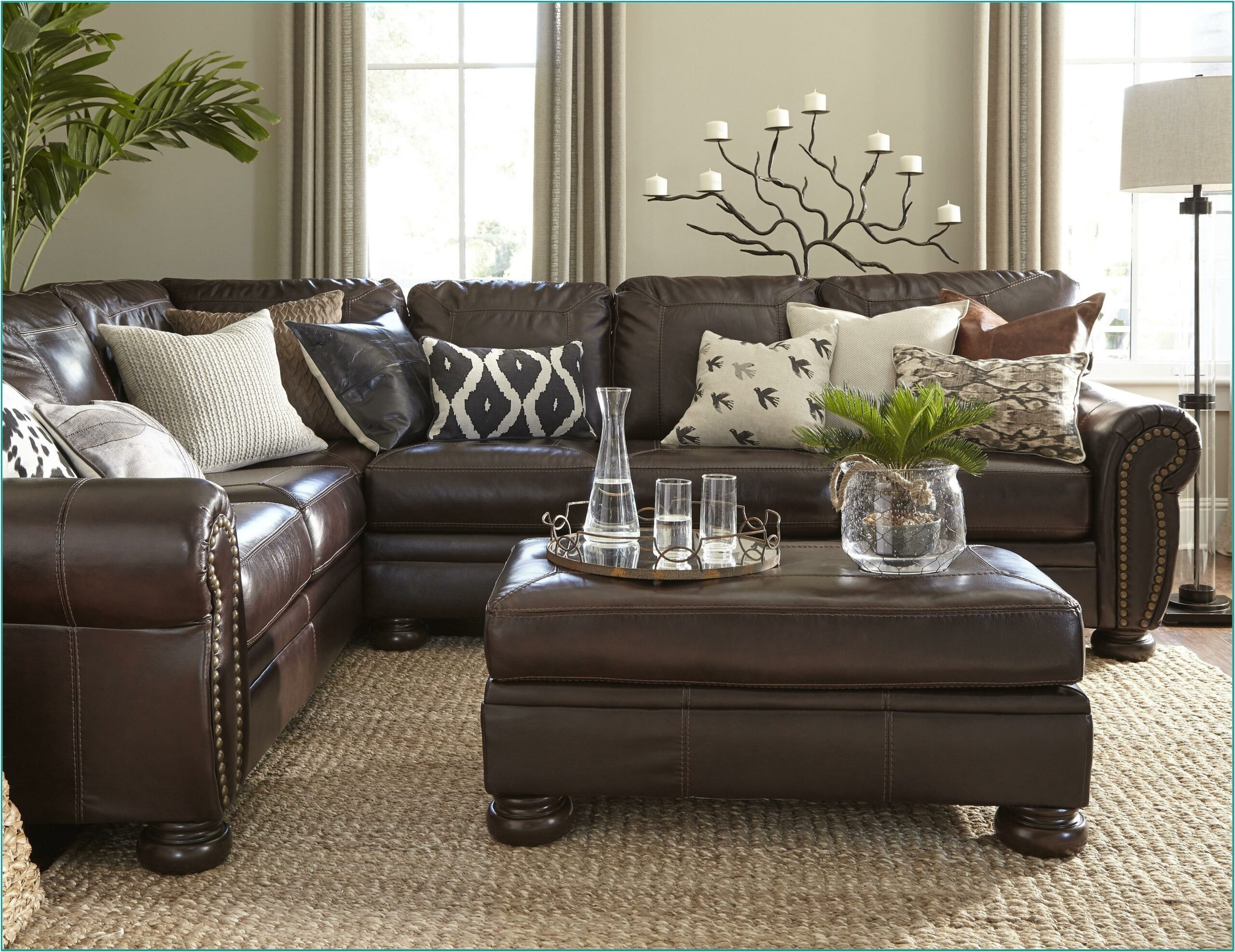 Dark Brown Brown Sofa Decorating Living Room Ideas