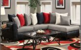Dark Grey And Red Living Room Ideas