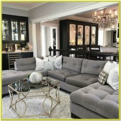 Dark Grey Couch Living Room Ideas 1