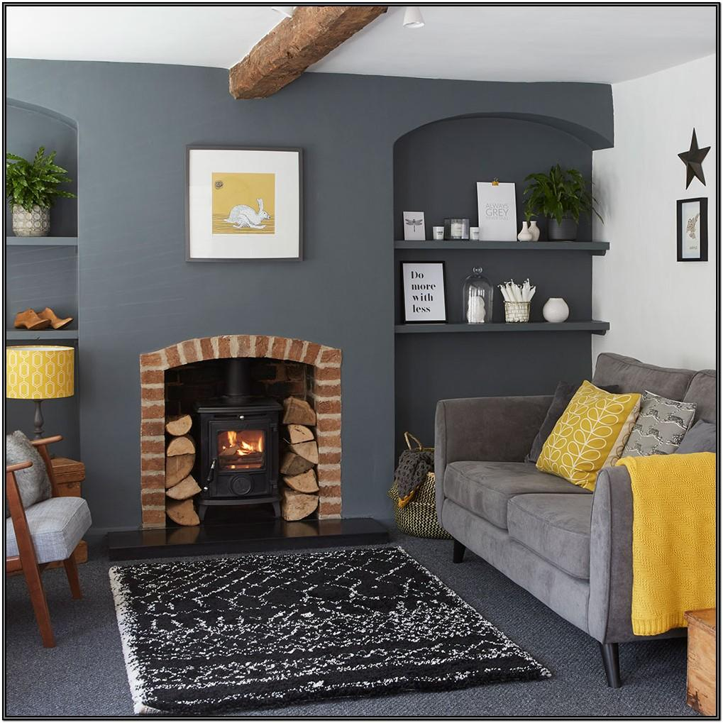 Dark Grey Living Room Ideas Grey And Yellow