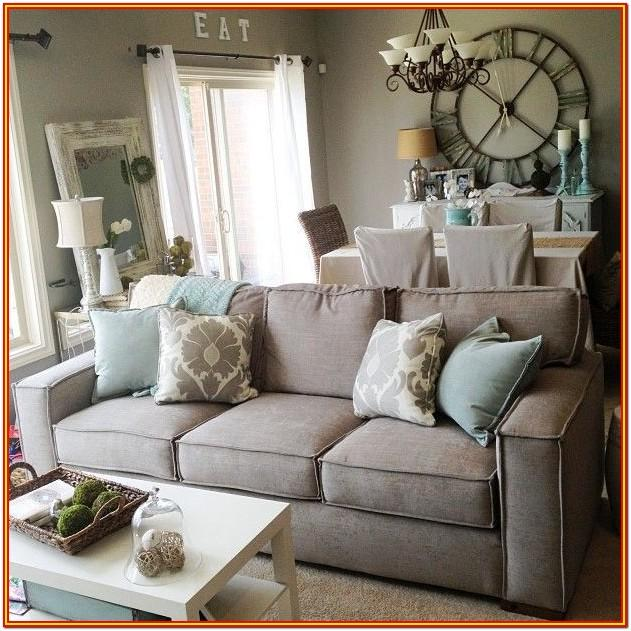 decorating ideas for living room with gray couch