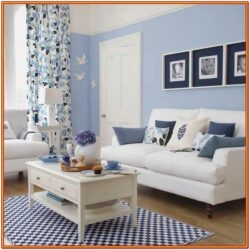 Decorating Living Room With Blue