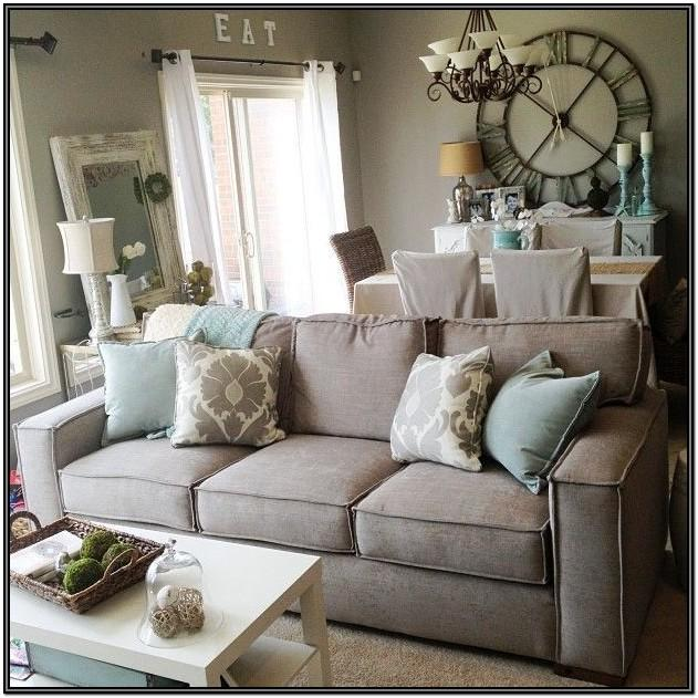 Farmhouse Dark Gray Couch Living Room Ideas