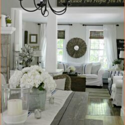 Farmhouse Living Room Window Decor Scaled