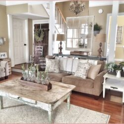 Farmhouse Rustic Country Living Room Decor Scaled