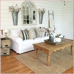 Farmhouse Rustic Living Room Wall Decor Ideas