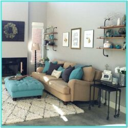 Gray And Turquoise Living Room Decorating Ideas 1